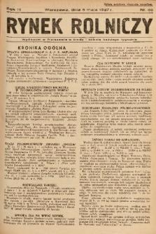Rynek Rolniczy. 1937, nr 36