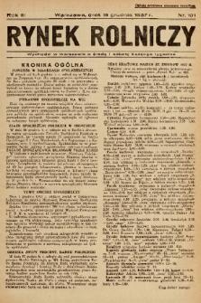 Rynek Rolniczy. 1937, nr 101