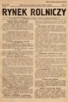 Rynek Rolniczy. 1938, nr 2