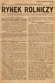 Rynek Rolniczy. 1938, nr 4