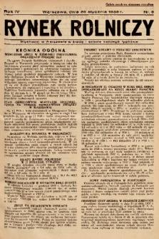 Rynek Rolniczy. 1938, nr 8