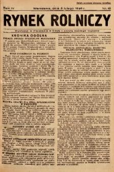 Rynek Rolniczy. 1938, nr 10