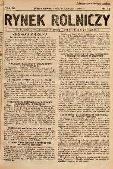Rynek Rolniczy. 1938, nr 12