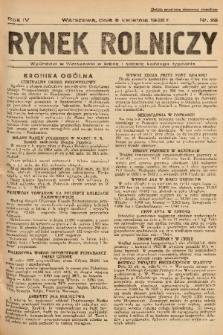 Rynek Rolniczy. 1938, nr 28