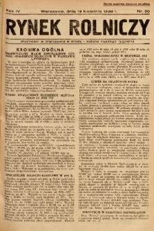 Rynek Rolniczy. 1938, nr 30