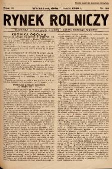 Rynek Rolniczy. 1938, nr 38