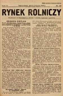 Rynek Rolniczy. 1938, nr 53