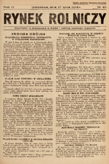 Rynek Rolniczy. 1938, nr 60