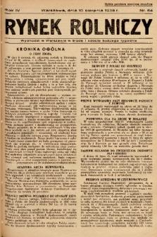 Rynek Rolniczy. 1938, nr 64
