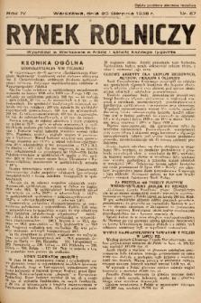 Rynek Rolniczy. 1938, nr 67