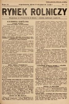 Rynek Rolniczy. 1938, nr 71