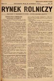 Rynek Rolniczy. 1938, nr 76
