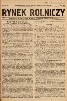 Rynek Rolniczy. 1938, nr 87