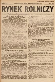 Rynek Rolniczy. 1938, nr 90