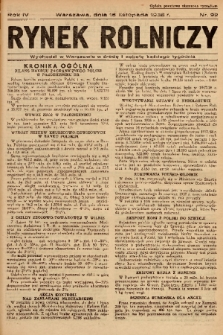 Rynek Rolniczy. 1938, nr 92