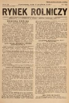 Rynek Rolniczy. 1938, nr 101