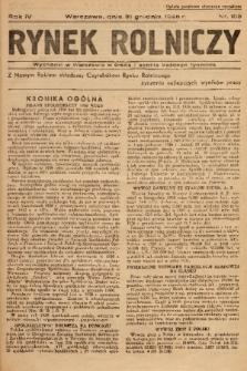 Rynek Rolniczy. 1938, nr 105