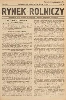 Rynek Rolniczy. 1939, nr 41