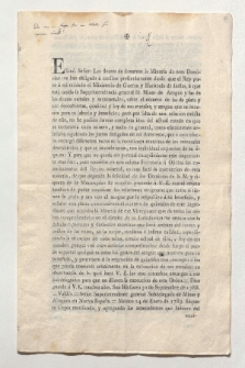 Brief von Fausto Elhuyar y de Suvisa und Diego Gardoqui y Arriquibar an Antonio Bonilla