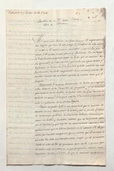 Brief von Manuel Abad Queipo an Alexander von Humboldt, geschrieben von Unbekannt