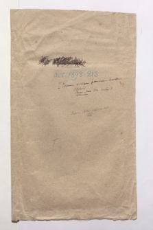 """Umschlag mit der Aufschrift """"I Examen critique zunächst brauchbar Ptolemé Pamer Marco Polo [...]"""" (Ansetzungssachtitel von Bearbeiter/in)"""