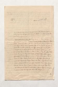 Brief von Emil Gottlieb Friedländer an Alexander von Humboldt