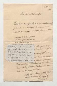 Brief von Edme François Jomard und Unbekannt an Alexander von Humboldt