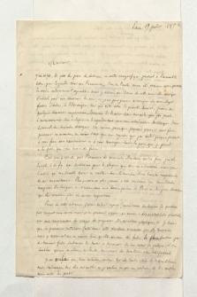 Brief von Francois Desiré Roulin an Alexander von Humboldt