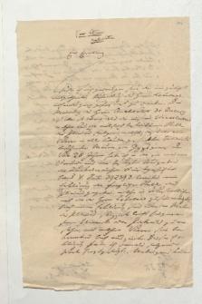 Brief von Johannes Schulze an Alexander von Humboldt