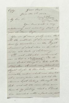 Brief von Unbekannt an Alexander von Humboldt