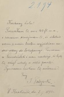 Korespondencja Leona Mańkowskiego z lat 1871-1909. T. 18, r. 1894