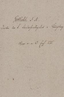 Berol. Ms. Varnhagen Sammlung 76, Gotthold