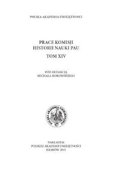 Prace Komisji Historii Nauki PAU. T. 14, 2015