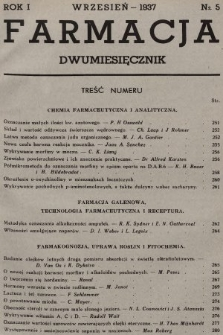 Farmacja. 1937, nr5