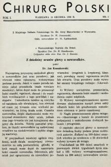 Chirurg Polski : czasopismo poświęcone chirurgji klinicznej i technice operacyjnej. 1936, nr3