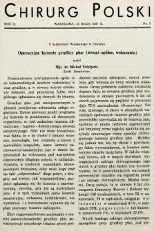 Chirurg Polski : czasopismo poświęcone chirurgji klinicznej i technice operacyjnej. 1937, nr5