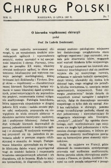 Chirurg Polski : czasopismo poświęcone chirurgji klinicznej i technice operacyjnej. 1937, nr7