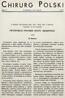 Chirurg Polski : organ Towarzystwa Chirurgicznego Warszawskiego. 1939, nr2