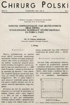 Chirurg Polski : organ Towarzystwa Chirurgicznego Warszawskiego. 1939, nr5