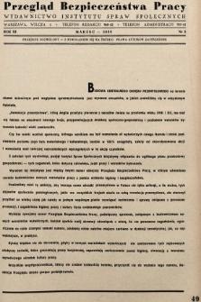 Przegląd Bezpieczeństwa Pracy : wydawnictwo Instytutu Spraw Społecznych. 1938, nr3