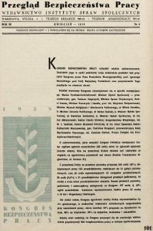 Przegląd Bezpieczeństwa Pracy : wydawnictwo Instytutu Spraw Społecznych. 1938, nr4