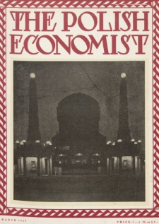 The Polish Economist : a monthly review of trade, industry and economics in Poland. 1927, nr3