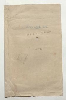 Materialien zum Atlas de la Relation historique Nr. III in einem Umschlag (Ansetzungssachtitel von Bearbeiter/in)