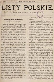 Listy Polskie. 1890, nr1