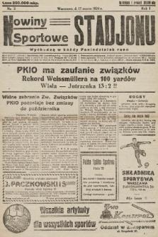 Nowiny Sportowe Stadjonu. 1924, nr3