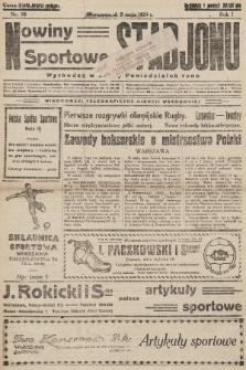 Nowiny Sportowe Stadjonu. 1924, nr10