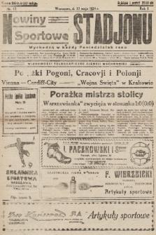 Nowiny Sportowe Stadjonu. 1924, nr12