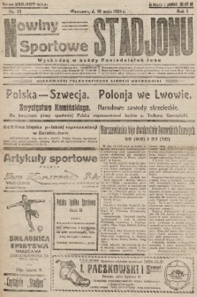 Nowiny Sportowe Stadjonu. 1924, nr13