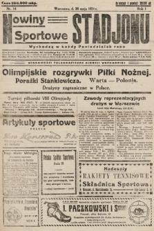 Nowiny Sportowe Stadjonu. 1924, nr14