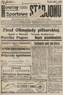 Nowiny Sportowe Stadjonu. 1924, nr17
